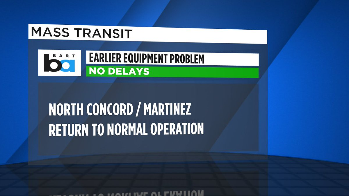 Confirmed with BART that everything is operating normally- no delays left at North Concord/Martinez.