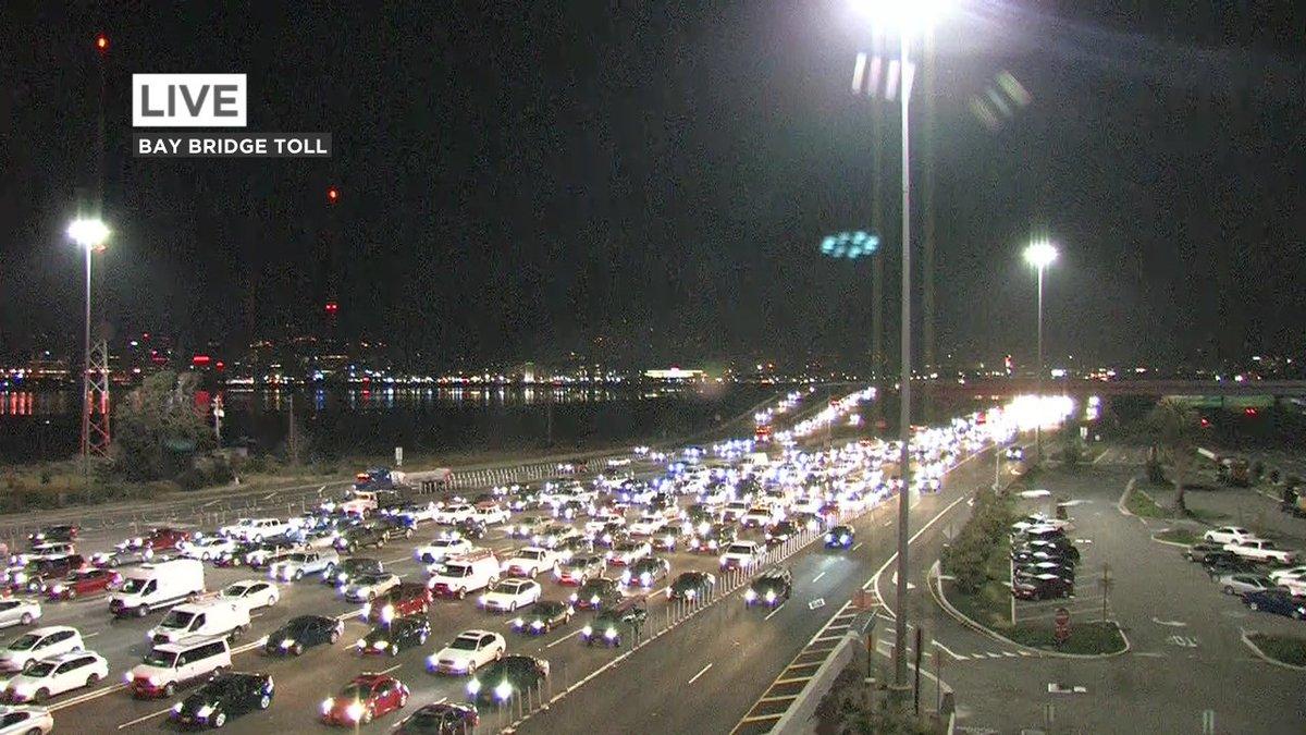 Bay Bridge metering lights on at 5:30am today.