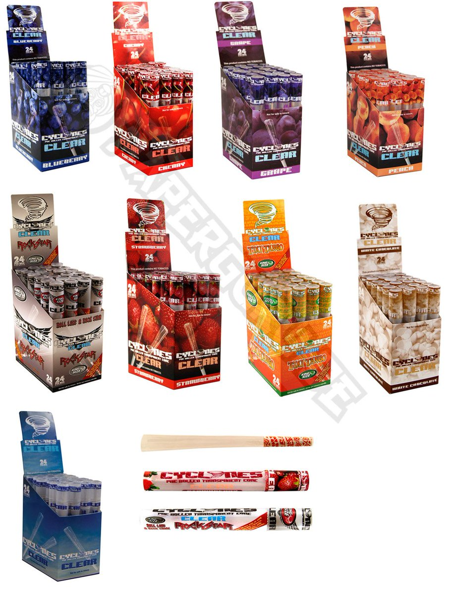 The New Cyclones CLEAR Blunts Arrived! Try Out TIKI TANGO Or WHITE  CHOCOLATE From 9
