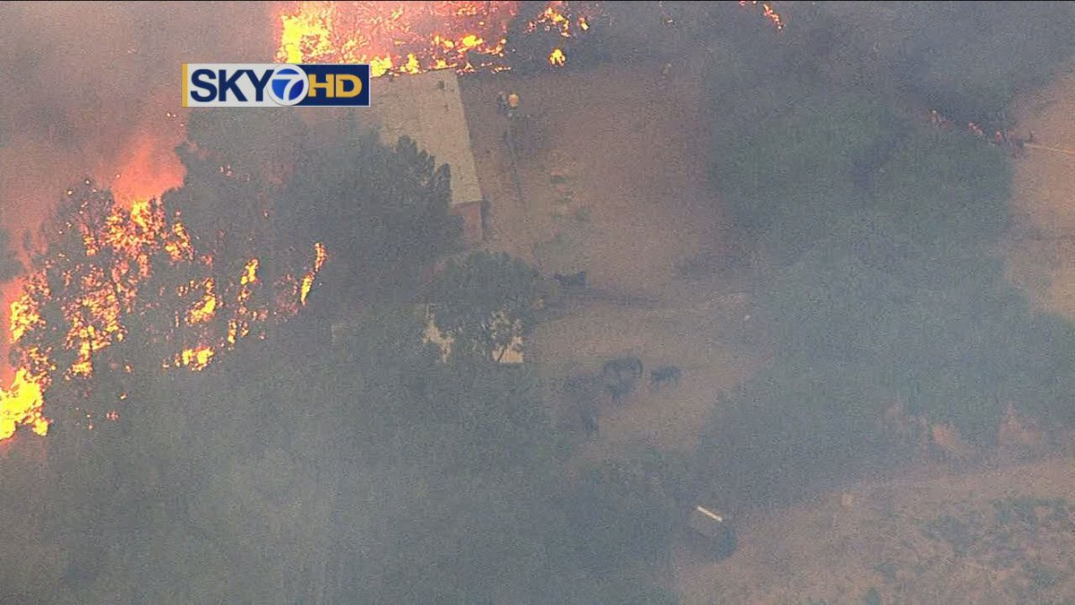 LIVE VIDEO: LomaFire closing in on ranch on Casa Loma Rd