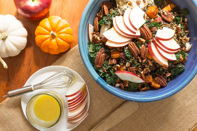 Cortland Apples find a home in this Wild Rice Bowl! ://