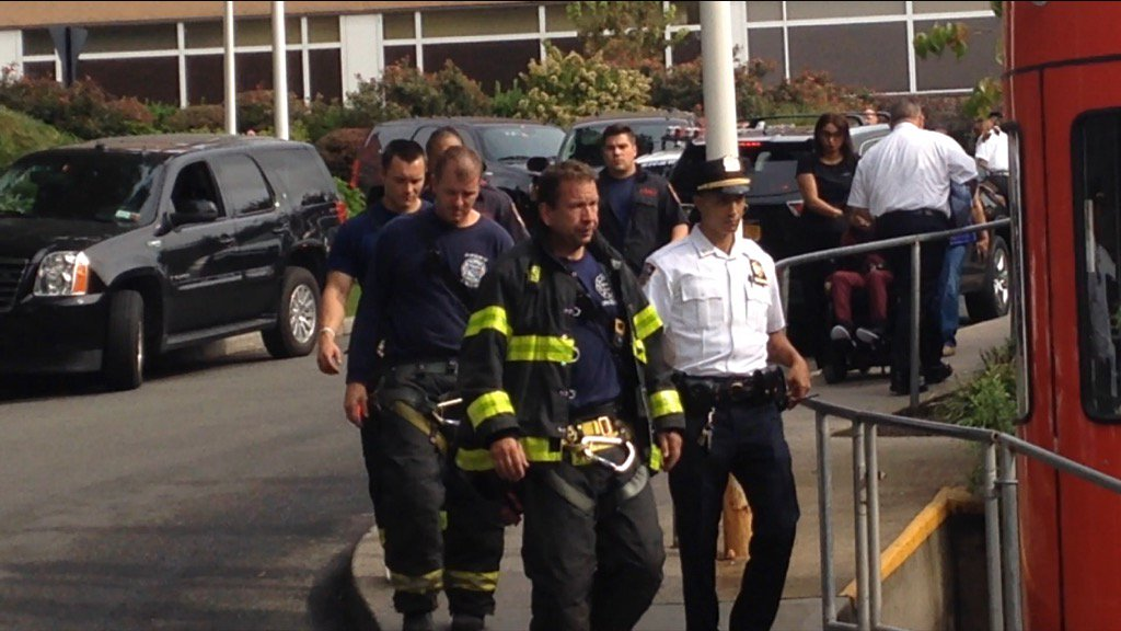 Grieving firefighters leave hospital after firefighter dies from falling debris in suspected BX drug house explosion