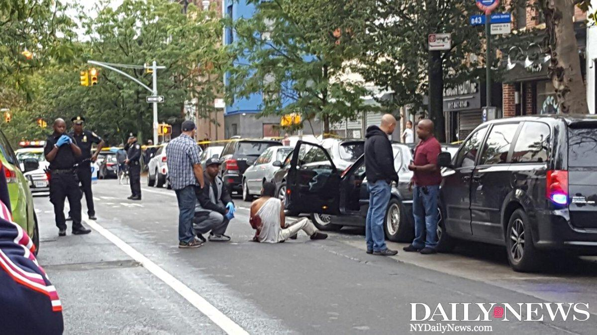 JUST IN: Cops shot a man in the arm as they tried to arrest him in Brooklyn