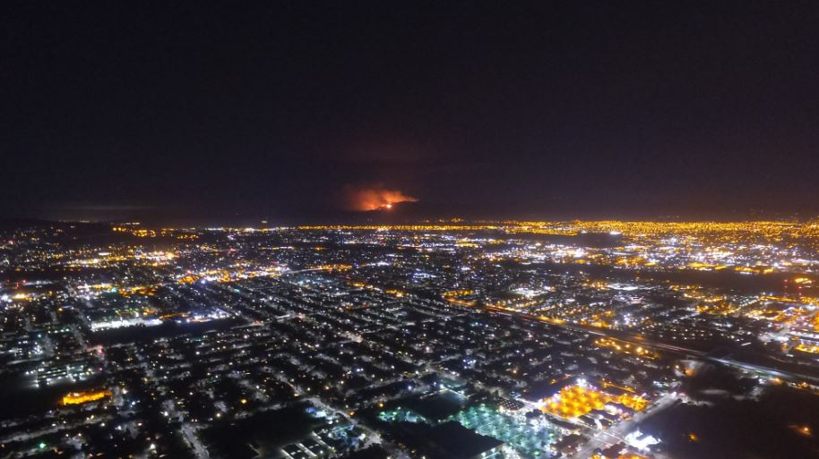 Drone shots of the LomaFire from EastSanJose. More photos