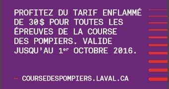 Avez-vous profité de notre tarif à 30 $?  Venez #courir 2-5-10-21,1 ou 42, 2 km à #Laval ?  #marathon #demimarathon #coursedespompiers<br>http://pic.twitter.com/5QHyxAg7v3