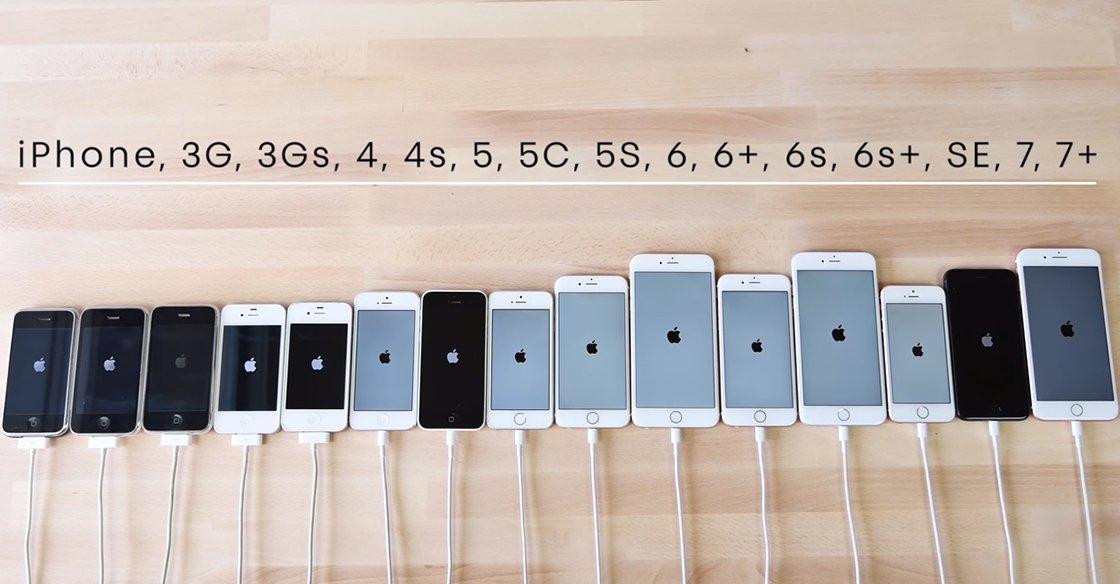 un speed test compare tous les mod les d 39 iphone sortis depuis le tout premier. Black Bedroom Furniture Sets. Home Design Ideas