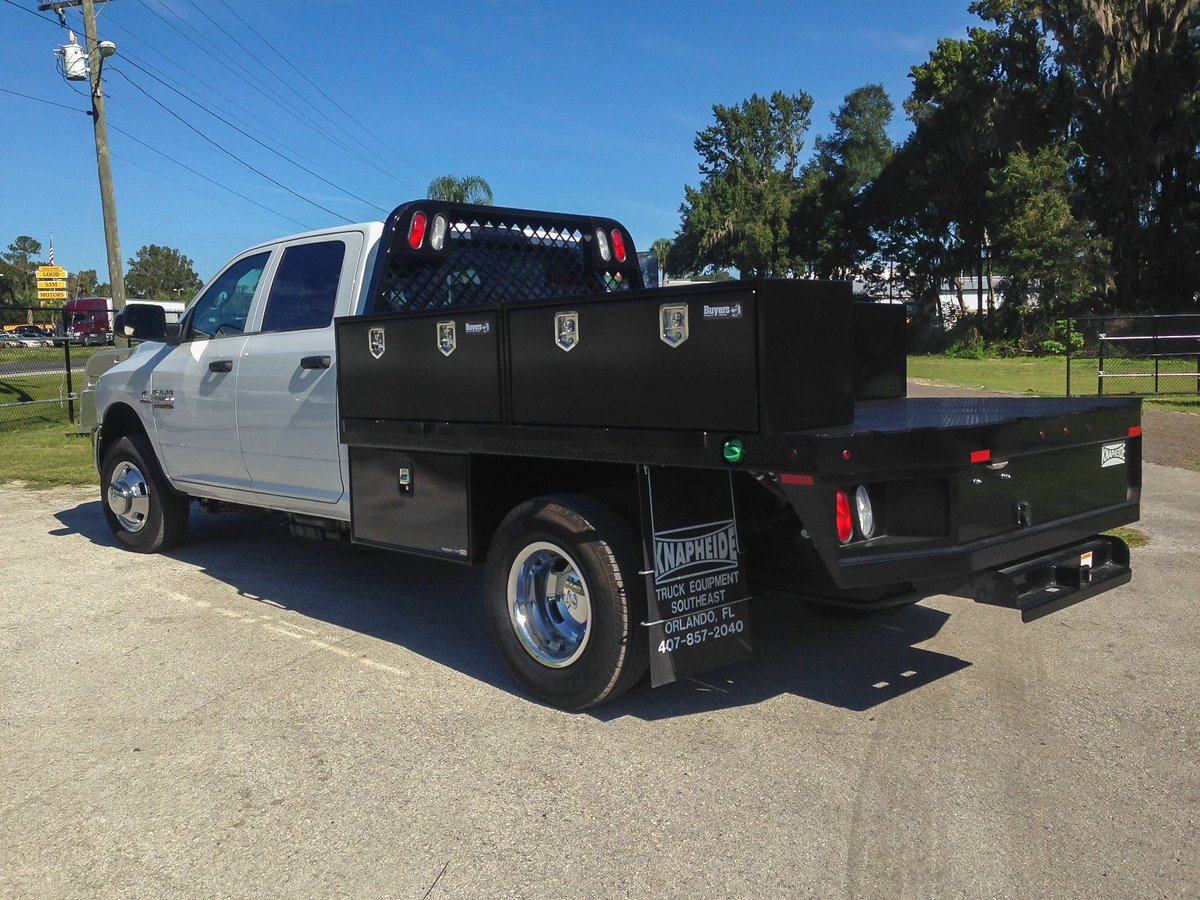 Another truck bed install with additional tool boxes on a nice ram 3500 http www triplecrowntrailers com truck beds html ocalatruckbeds