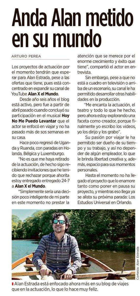 """""""Anda @alan_estrada metido en su mundo"""" hoy en @reformagente ✈️"""