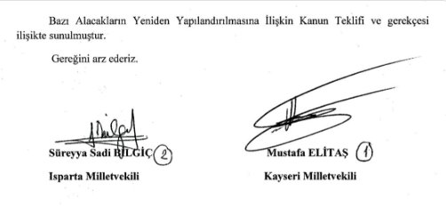 7) The bill co-signed by ruling party parliamentary group deputy chairman Mustafa Elitaş, former economy minister. https://t.co/Fjl3f8wvP8