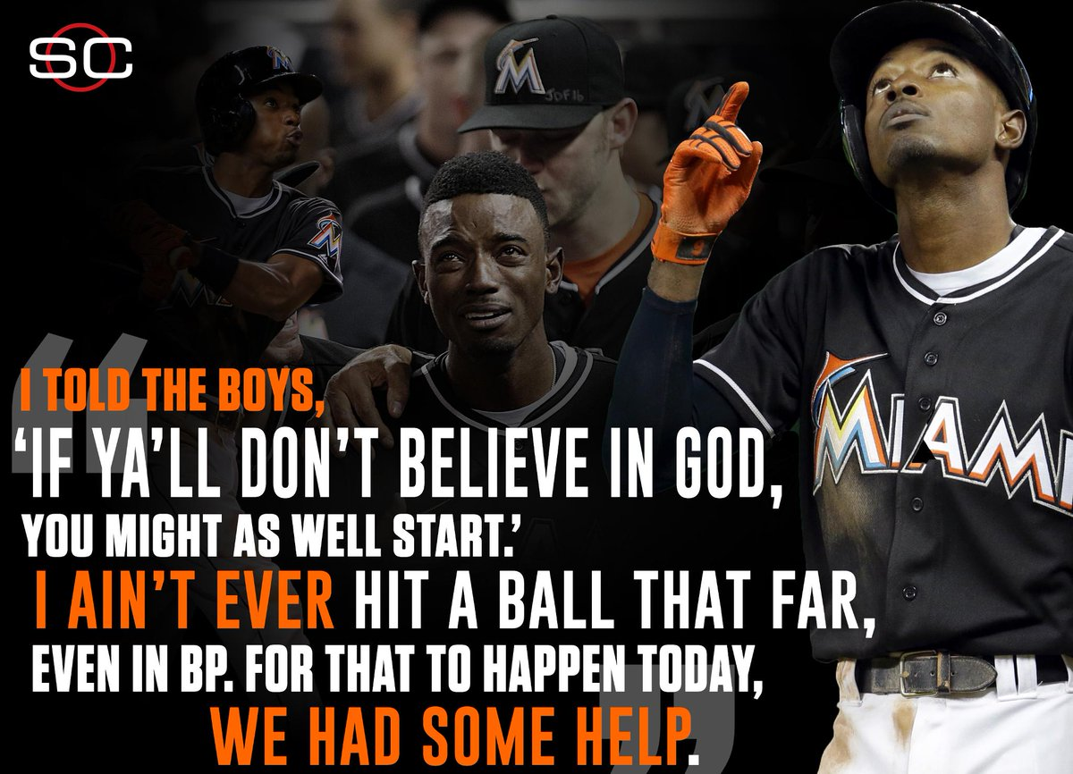 Dee Gordon tried to explain his lead-off HR last night, his 1st of the season.