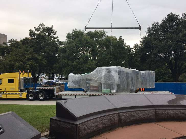 Texas Capitol's first monument to history of African-Americans taking shape