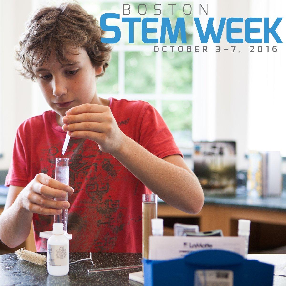 We're excited for #BostonSTEMWeek next week! 36 schools to participate in week-long immersive #STEM experience. https://t.co/gw77JwO18K