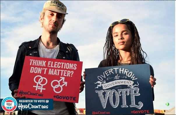"""This election is too important. REGISTER TO VOTE! Text """"COUNT"""" to 384-387 to register or visit @HeadCountOrg & click the register to #vote"""