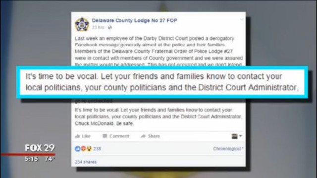 Delaware County court employee under fire for Facebook post