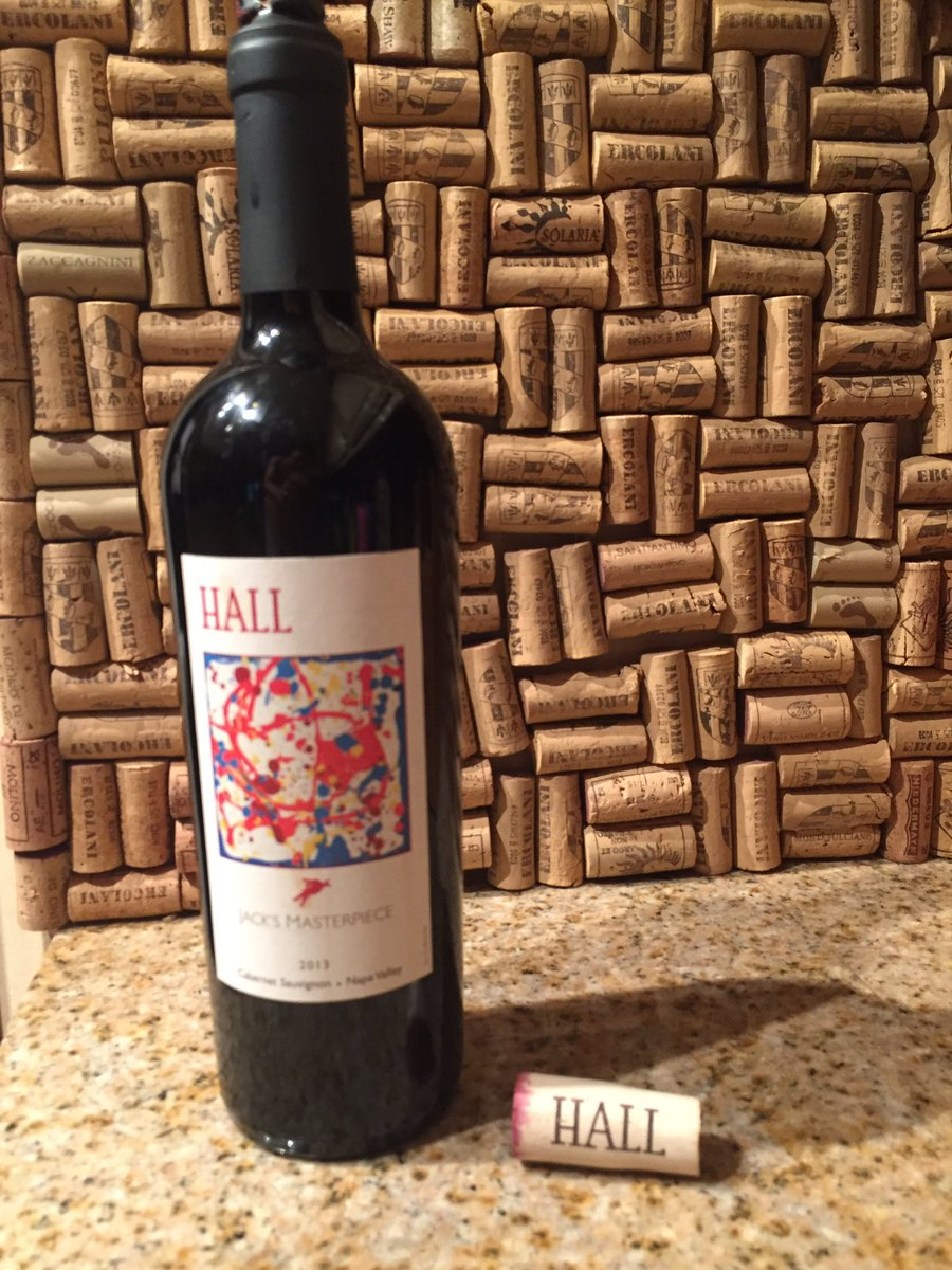 Thank you @HALLWines for being the perfect addition to my #corkwall. Let&#39;s just say this bottle of wine will be gone very soon :) <br>http://pic.twitter.com/OhDufuBnZX