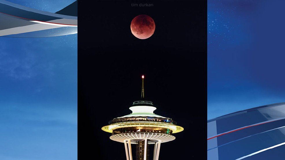 1 year later, @timdurkan reflects on epic 'Super Blood Moon' Space Needle eclipse shot -