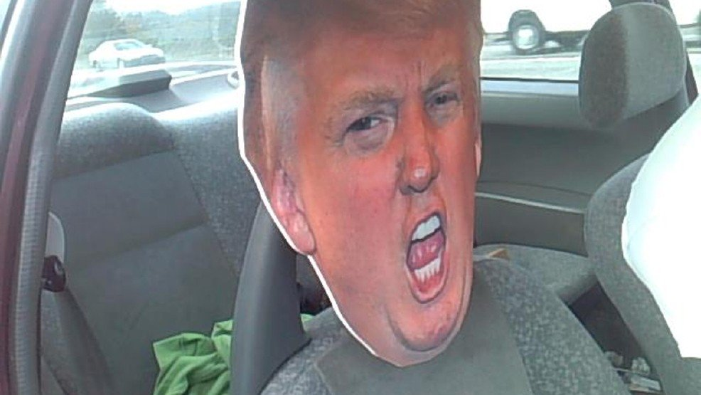 Trooper trips up Trump-transporting carpool lane cheater -