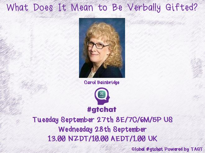 Thumbnail for #gtchat: What Does It Mean to Be Verbally Gifted?