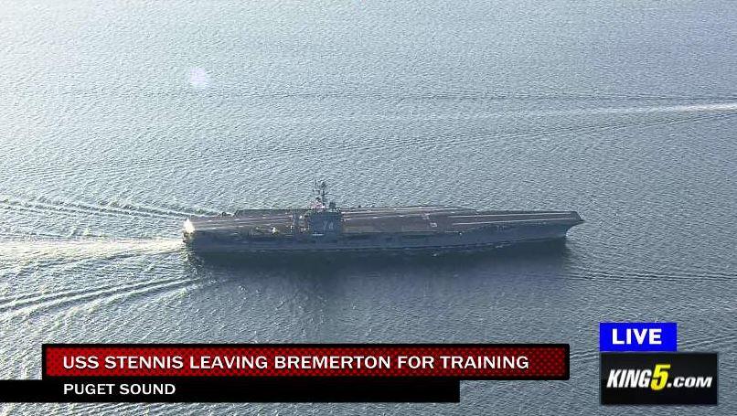 Bon Voyage to Bremerton's USS Stennis