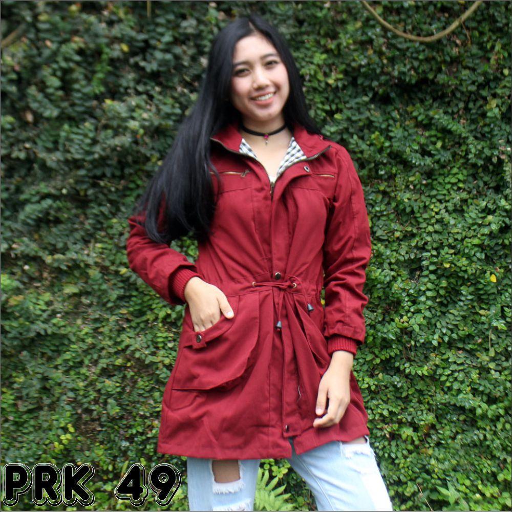 Blessher Jaket Parka Wanita Red Maroon Daftar Harga Terlengkap Waterproof Terlaris Baru  Brand Original Jual