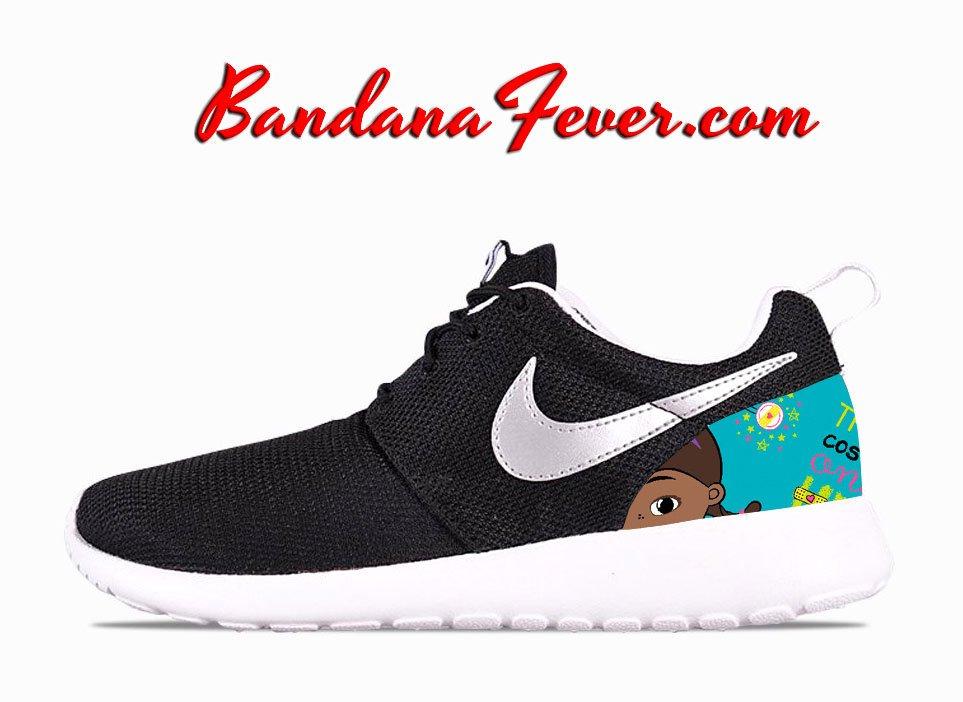 Swarovski Nike Roshe One Women's Running Shoes BlackWhiteMetallic Platinum