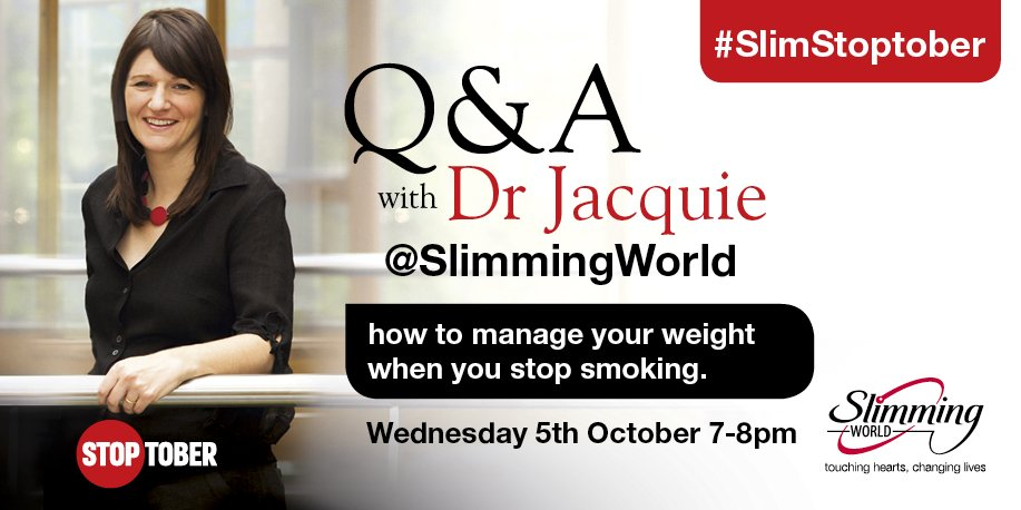 Slimming World On Twitter Looking Forward To Chatting To Doctorjacquie Later This Evening To