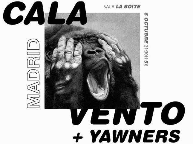 Concierto de Cala Vento y Yawners en Boite Live