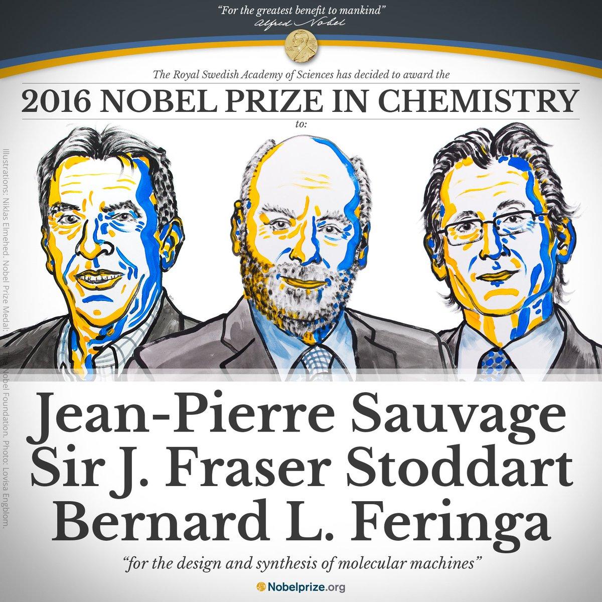لماذا ربح هؤلاء الثلاثة- جائزة نوبل في الكيمياء هذا العام