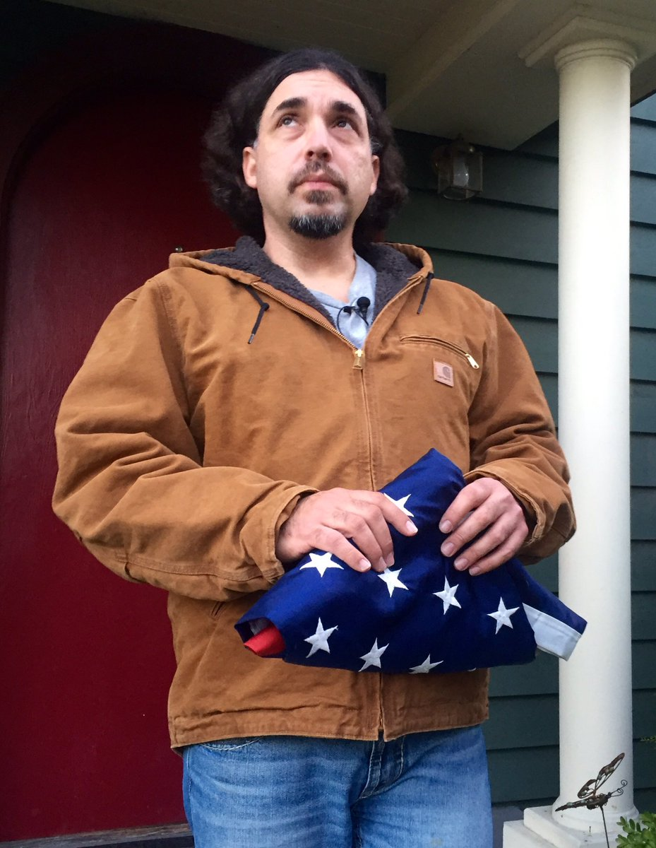 He had the most historically famous American flag for years --in his freezer, and didn't know it. See his story @11
