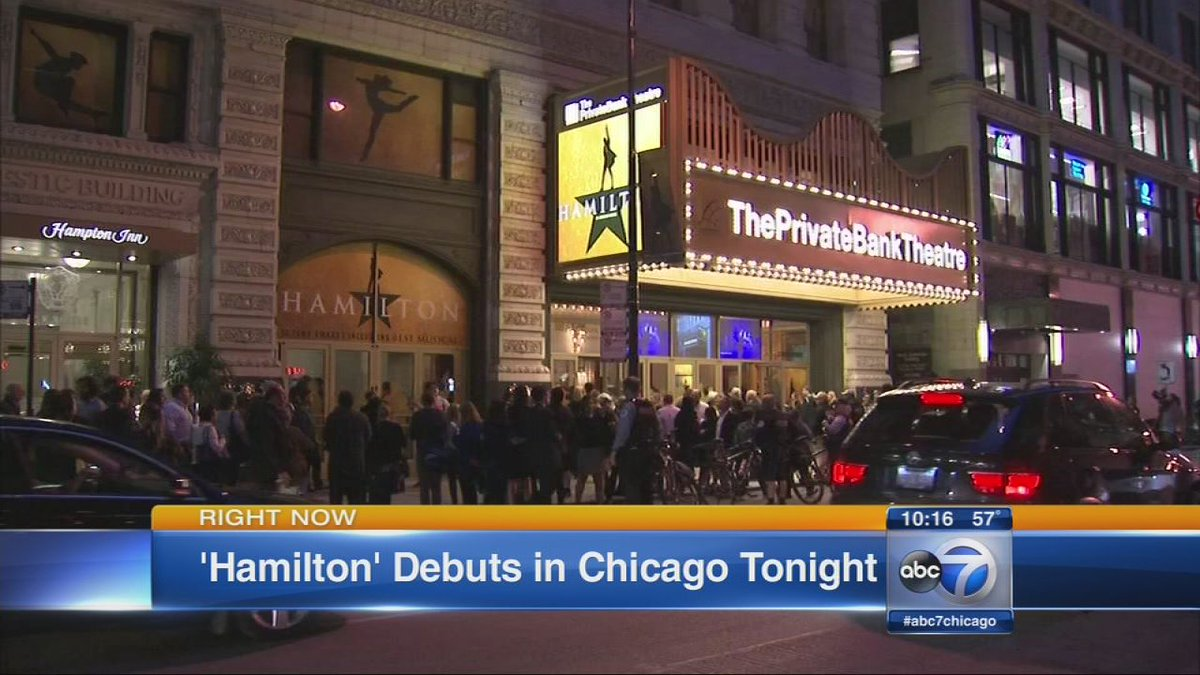 'Hamilton: An American Musical' debuted in Chicago Tuesday night