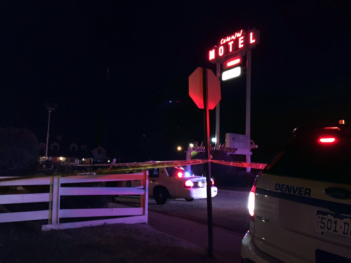 Man shot inside colonial motel near I-70 and York. 9news