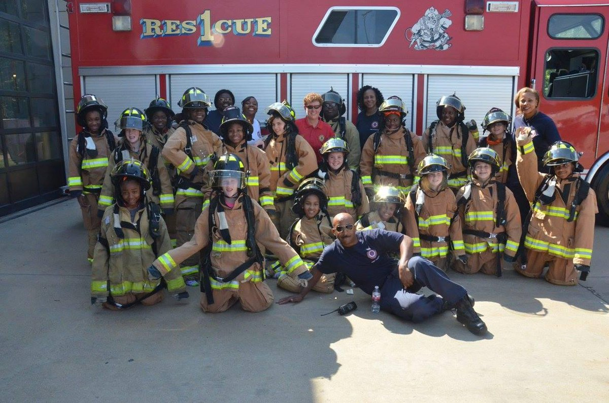 GirlScouts experience life as a firefighter during 'HERo Day' with MemphisFire. wmc5