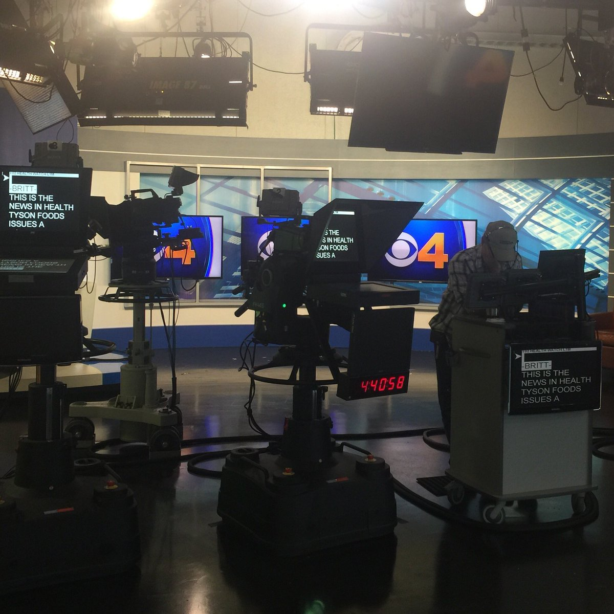 So many monitors in my world. Wake up with us today on CBS4! @cbsdenver CBS4Mornings attheoffice workpic