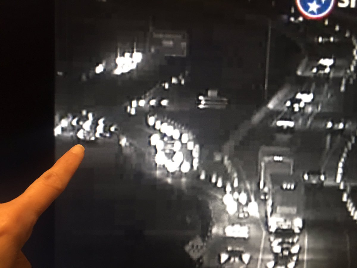 Motorist just moved cars to the left shoulder. Expect delays if you continue into Sam Cooper. I-40W center lane open