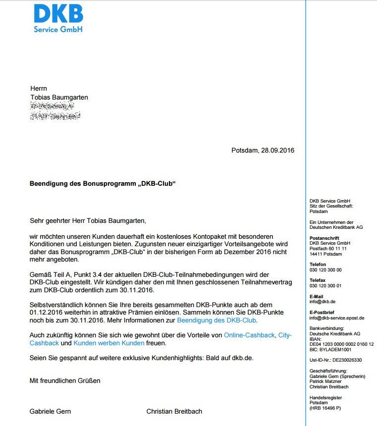 Tobias Baumgarten On Twitter Bonusprogramm Dkb Club Wird