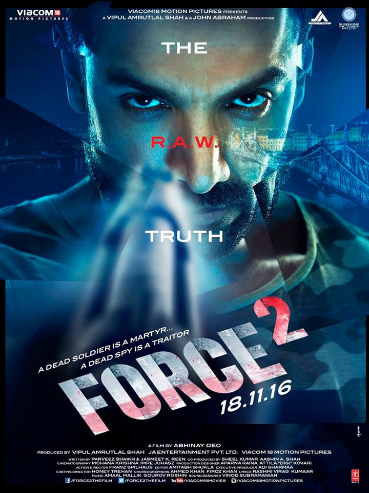 Force 2 First Look Posters starring John Abraham, Sonakshi Sinha