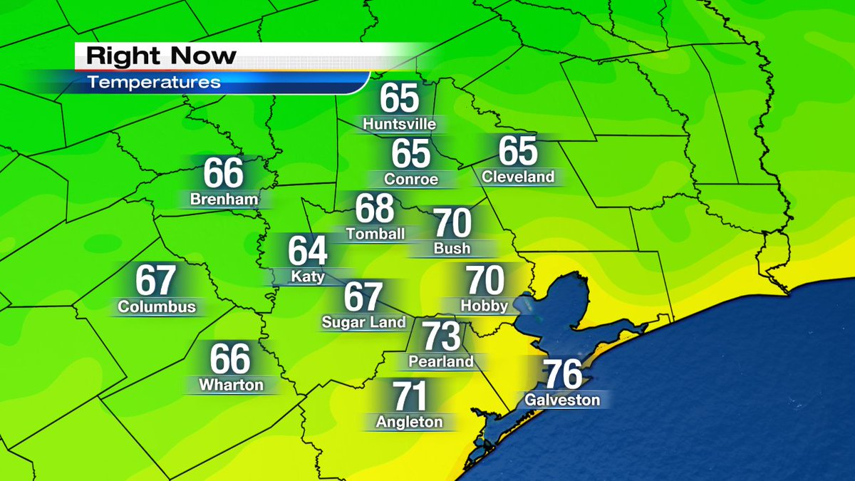 Morning!! Look at all those 60s out there! Perfect Fall weather later today