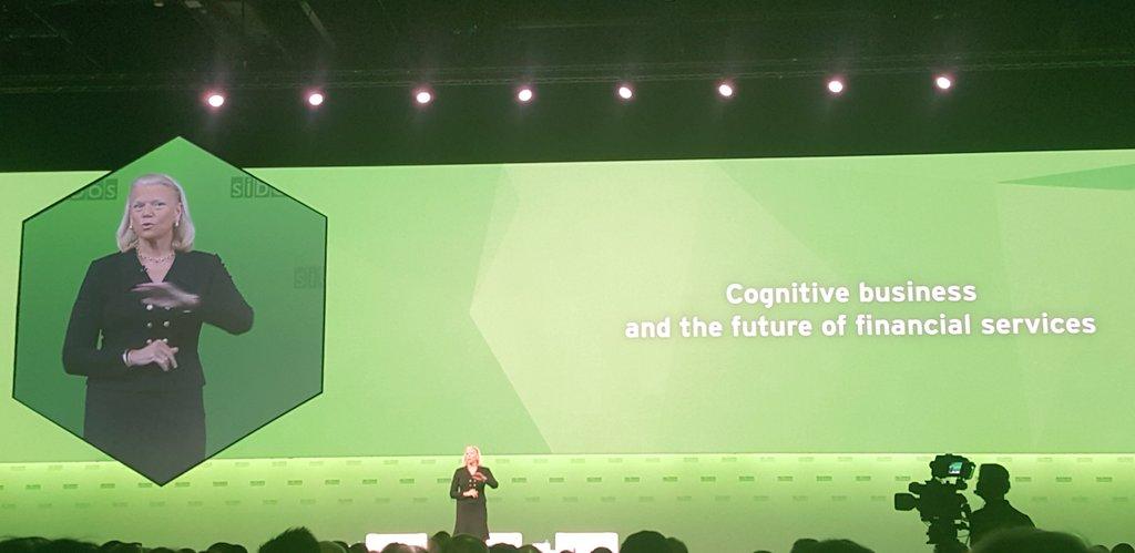 Superb keynote from Ginni Rometty CEO of @IBM #blockchain #digital #finserv #Sibos https://t.co/kqQbAlugf4