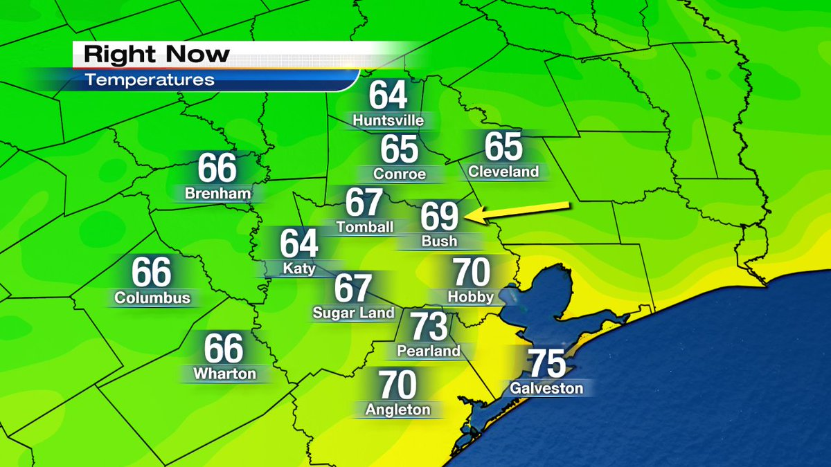 It's official! We've dropped below 70 at Bush airport for the first time since early June! finallyfall