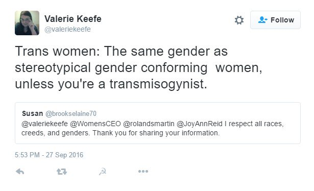 Cjbe Vander On Twitter I Guess This Example Of Ciswoman