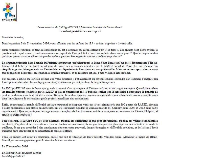 Didier Mignot On Twitter Une Reponse Salutaire Du Sniupp Aux