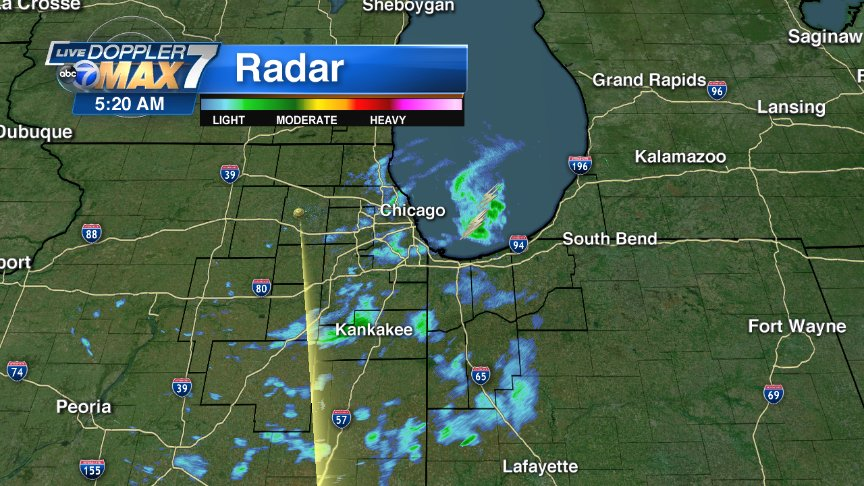 LATEST RADAR: Chicago How are conditions where you are? Mainly light showers around the area