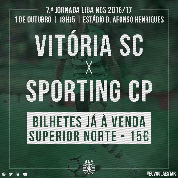 Os bilhetes para o Vitória SC - #SportingCP já estão à venda em Alvalade! Sabe mais aqui:  http://scp.pt/oRKK #EuVouLáEstarpic.twitter.com/umAcgOIMxY