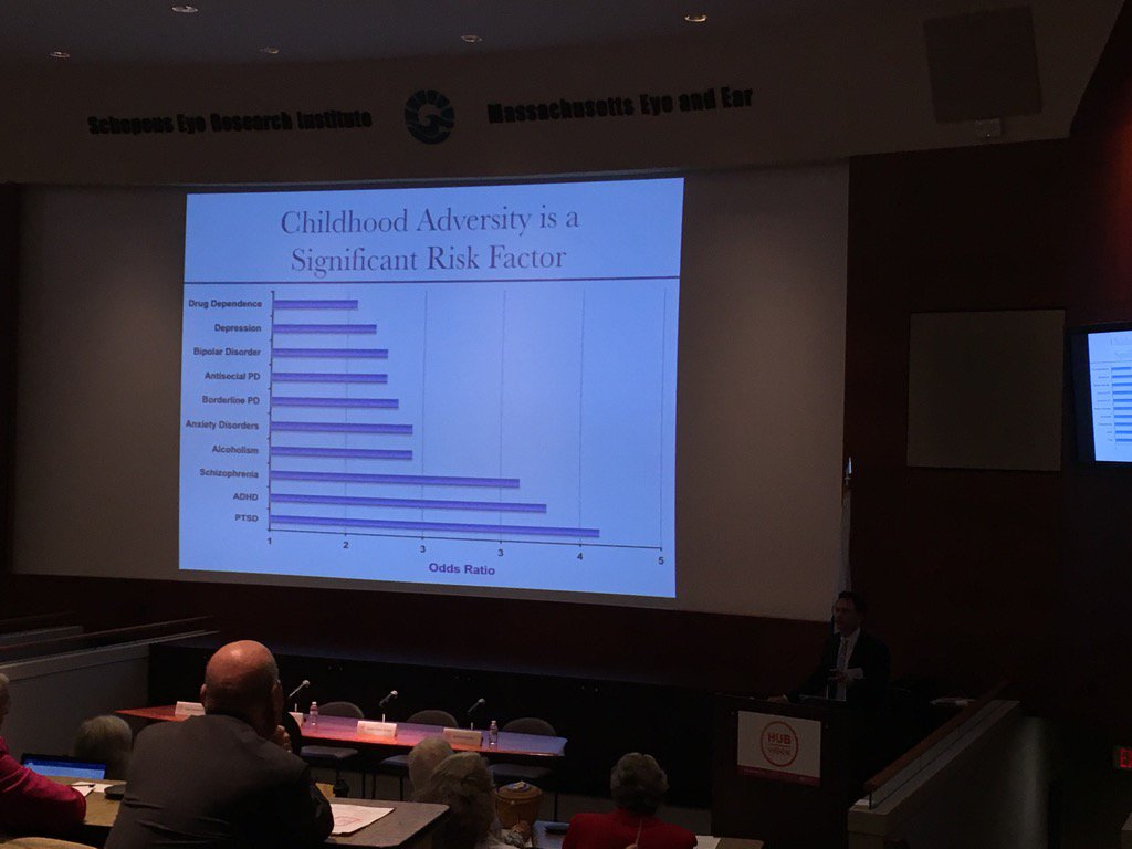 Childhood adversity is a significant factor. #HUBweek https://t.co/yOVNRITnj5