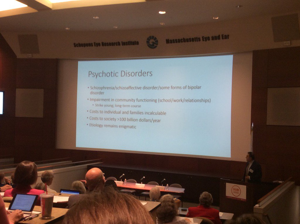 Psychotic disorders cost over $100B/year, costs to individuals and families incalculable. Dost Ongur MD #HUBweek https://t.co/mKt8j5mrOg