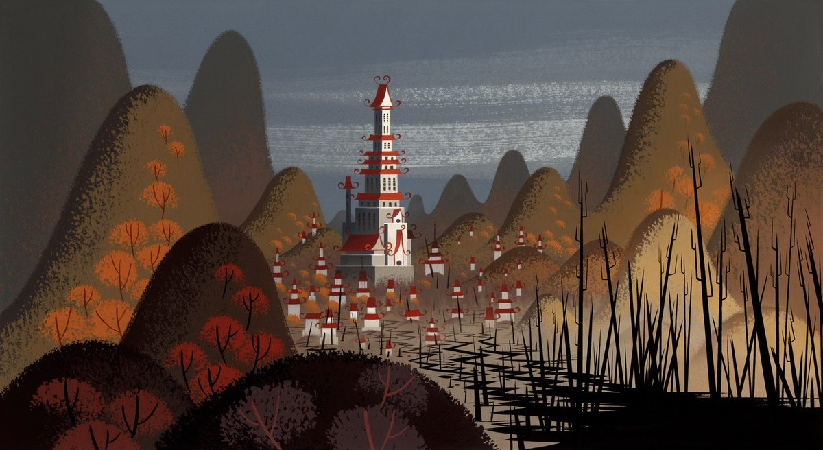 """Tohad on Twitter: """"Backgrounds from Samurai Jack (directed by Genndy  Tartakovsky for Cartoon Network, 2001)… """""""