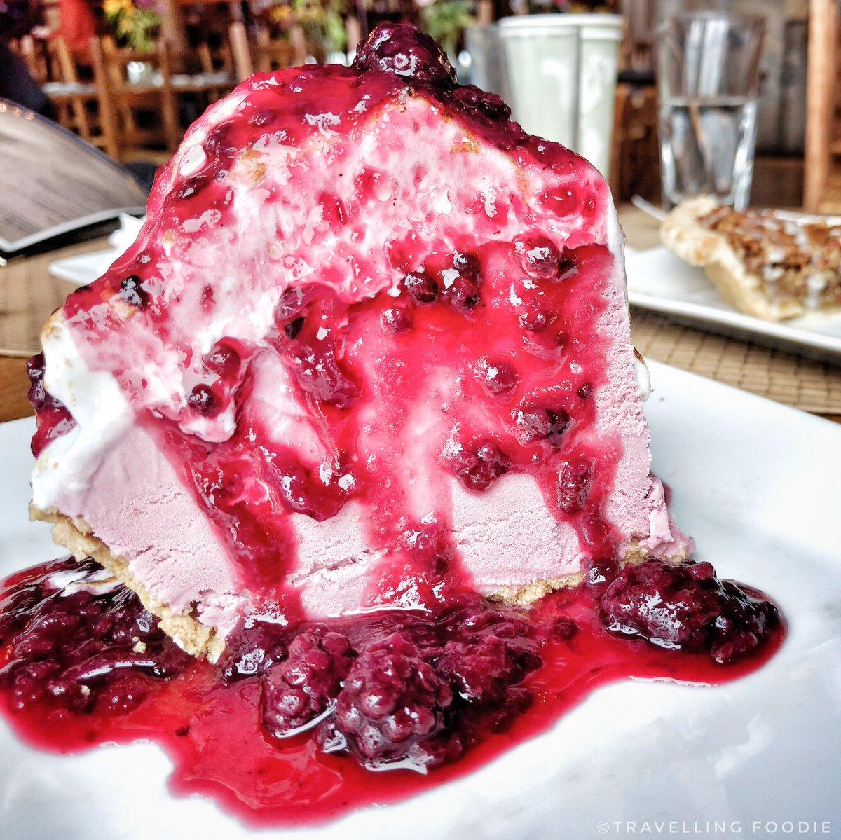 Signature Blackberry Ice Cream Pie