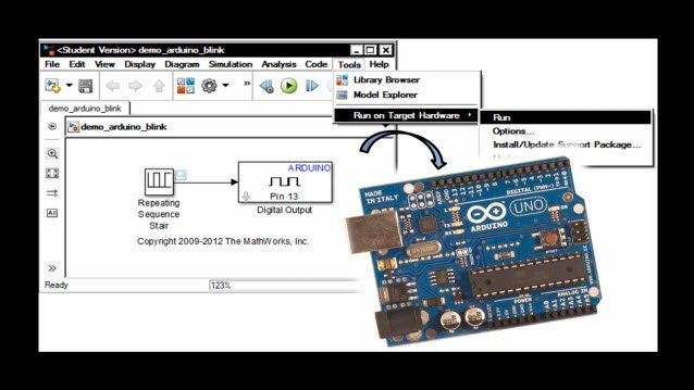 Use Serial Communications with Arduino Hardware - MATLAB
