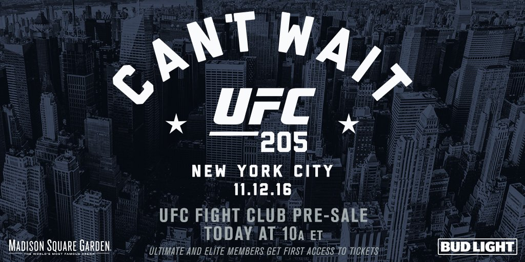 ������The #UFC205 Fight Club pre-sale starts RIGHT NOW!!!➡️https://t.co/jGFKmDVvRS https://t.co/4rBS14f8Cm