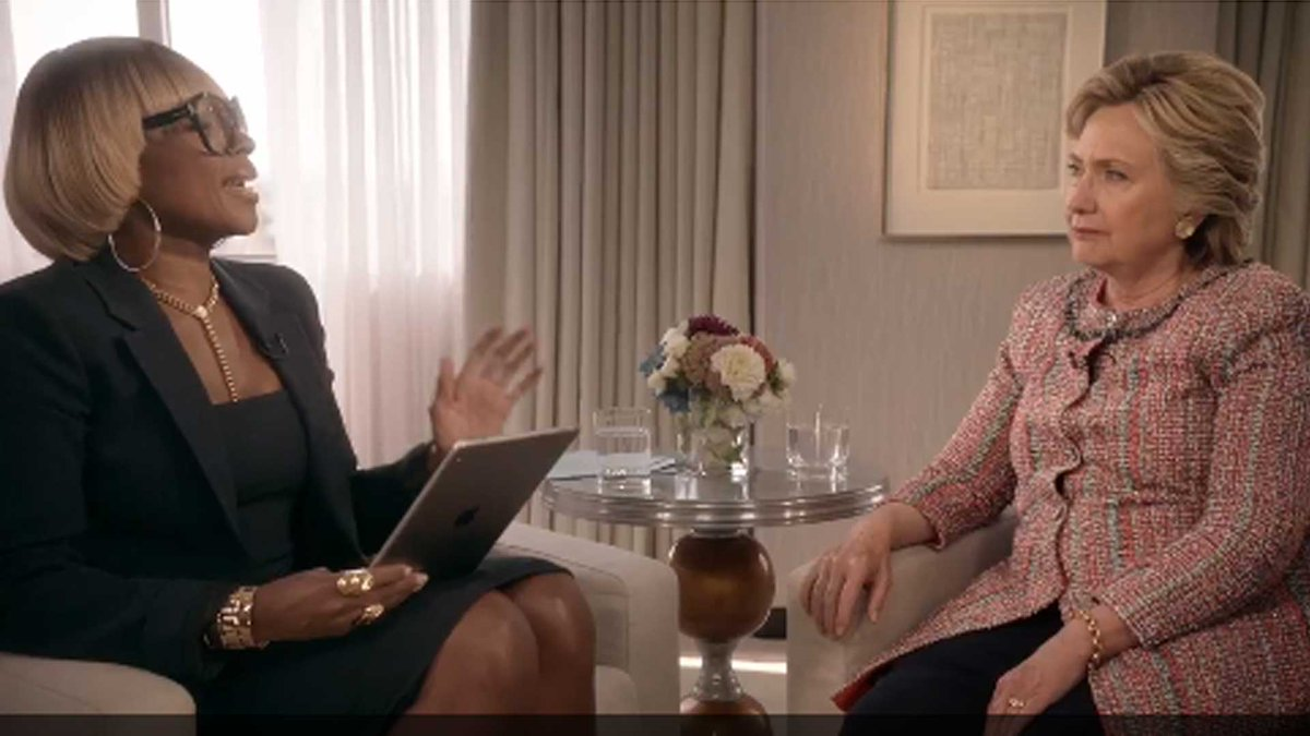 Mary J. Blige's singing interview with Hillary Clinton mocked online
